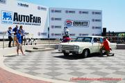 Show winners were announced and photographed in the speedway's Winners' Circle. Phil Heitman of Durham won Best in Show for his 1966 American Motors Corp. Marlin.