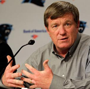 The Carolina Panthers have relieved Marty Hurney of his duties as general manager.