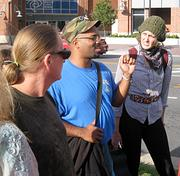 """The next part is, we start the occupation,"" Occupy Charlotte facilitator Luis Rodriguez told a demonstrator during the march back to old City Hall."