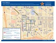 This map shows vehicle and parking restrictions around the Charlotte-Mecklenburg Government Complex during the DNC. Click the image to enlarge.