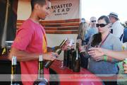 Beer wasn't the only thing on tap. Toasted Head served up samples of wine too.