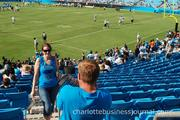 Saturday's event offered plenty of photo ops for Panthers fans.
