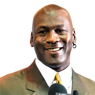 Michael Jordan is featured in an ad campaign for Presbyterian Healthcare, a sponsor of his NBA team, the Charlotte Bobcats.
