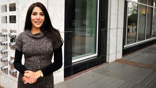 Shama Patel left a law career behind in Chicago to launch Flex + Fit in the Duke Energy Center.