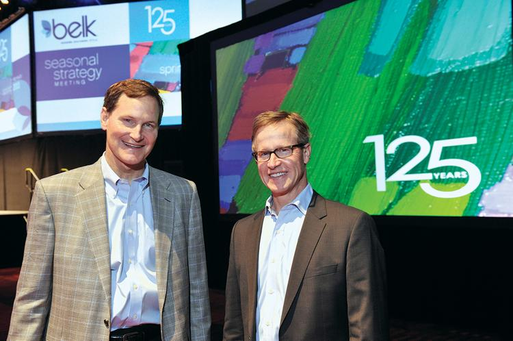 John Belk (left) and Tim Belk are the third generation to lead the department-store chain that carries their family name.