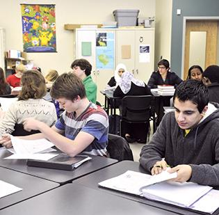 This physics class at CPCC's Cato Campus offers an example of the cramped conditions the college wants to resolve through $430 million worth of capital improvements.