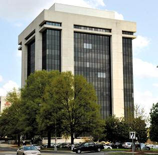 The 182,624-square-foot office building at the intersection of South McDowell and East Third streets went into foreclosure early this year. U.S. Bank won the property at a foreclosure sale last month, with a credit bid of $15.5 million.