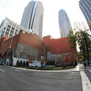 The Carolina Theatre site in uptown Charlotte has three suitors.
