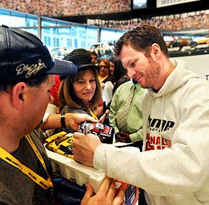 Dale Earnhardt Jr. at the NASCAR Hall of Fame