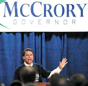 Pat McCrory, North Carolina gubernatorial candidate