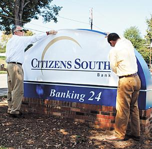 Citizens South branch signs switched to Park Sterling