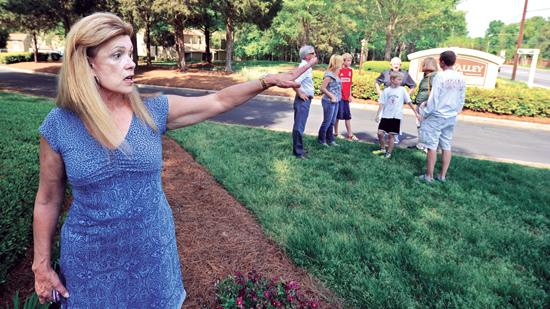 Virginia Thompson, president of the Montibello Homeowners Association, is leading the opposition to a rezoning of the Quail Valley apartment site.