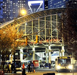 The Charlotte Transit Center is adjacent to Time Warner Cable Arena, where most of the Democratic National Convention's activities will be based.