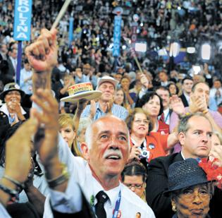 Crowds packed Time Warner Cable Arena last week during the Democratic National Convention.