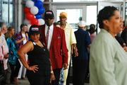 Obama supporters sported hats and buttons at a DNC kick-off event in September.