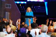 Democratic National Committee chair Debbie Wasserman Schultz spoke to a crowd of about 2,000  at the DNC kick-off event in September.