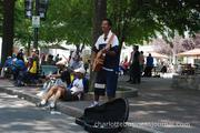 Street performers took advantage of the thousands of people visiting uptown, performing for larger crowds than usual.