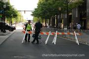 Charlotte-Mecklenburg police stepped up their presence for the SpeedStreet event uptown.