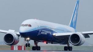 Features on the new Dreamliner include tinted dimming window and cleaner cabin air.