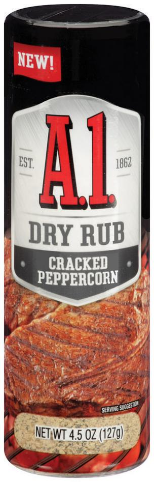 A.1. is no longer just a steak sauce.  Kraft Foods is introducing an A.1. Dry Rub product.