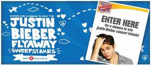 BMO Harris Bank has recruited Justin Bieber for a holiday sweepstakes promotion.