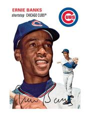 Another of the collectible cards has an image of former Cubs player Ernie Banks.