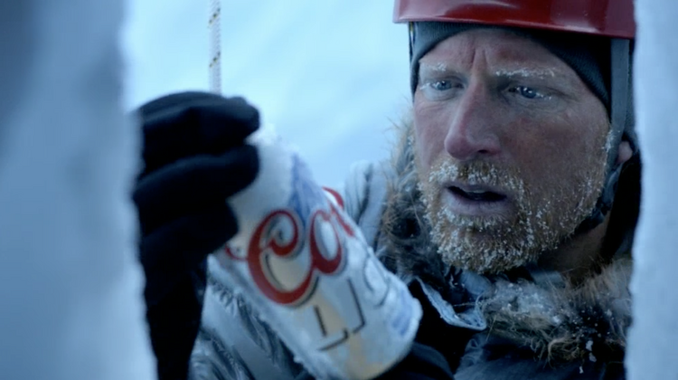 Screen shot from Coors Light's latest TV commercials fromCalvary/Chicago.
