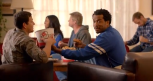 Timed to coincide with the NFL playoffs, KFC has dubbed itself the official sponsor of couchgating.