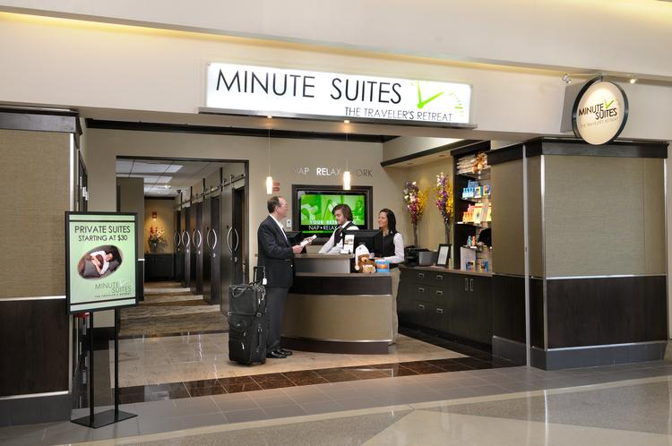 Minute Suites at Philadelphia International Airport. The company also has a location at Hartsfield-Jackson Atlanta International Airport and plans to open its third location at Dallas-Fort Worth International Airport in March. A fourth location at O'Hare International Airport is expected to open in the fourth quarter of this year.