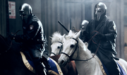 Mysterious masked horseman play a prominent role in the film.