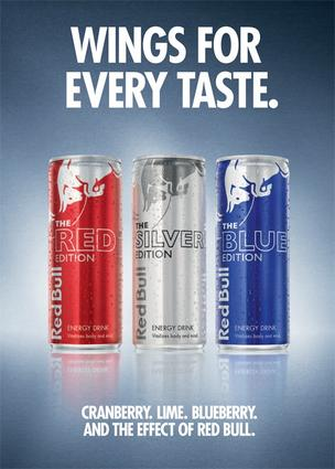 Red Bull is introducing cranberry, blueberry and lime-flavored version of the familiar energy drink.