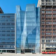 In 2007, the Spertus Institute for Jewish Learning and Leadership moved into a striking new building (center) designed by the Chicago architectural firm Krueck and Sexton.