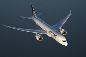 United's first Boeing 787 Dreamliner will arrive at Chicago's O'Hare Airport on Sunday morning.