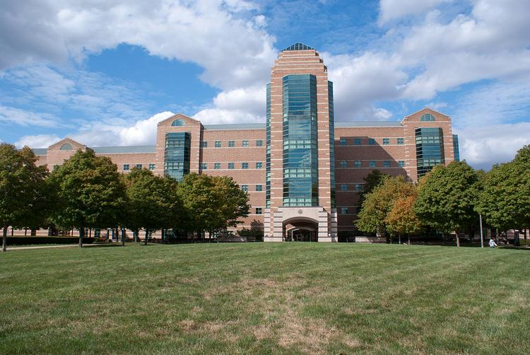 The building for the Beckman Institute for Advanced Science and Technology at the University of Illinois at Urbana-Champaign. The university is planning a privately-funded tech center in Chicago.