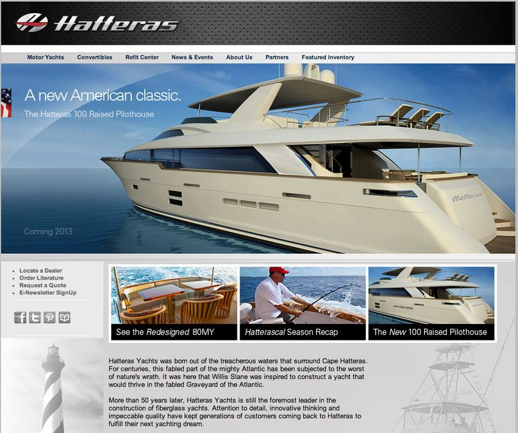 Hatteras Yachts will be sold by its parent, Brunswick Corp., and will lay off 105 employees.