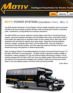 Motiv Power Systems specializes in electrifying heavy-duty trucks and buses.