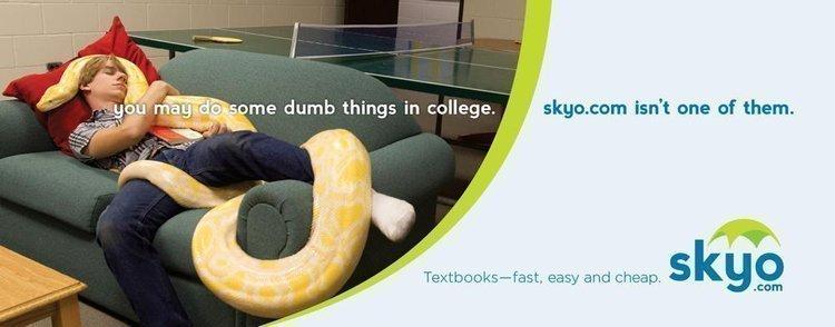 Skyo.com ad campaign plays off college students's dumb pranks.