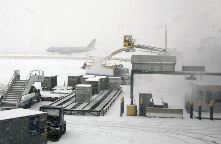 Snow at O'Hare International Airport.