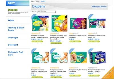 Procter & Gamble's online sales store launched this week.