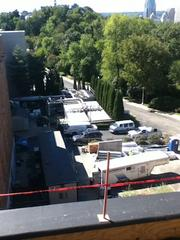 Downtown Cincinnati is visible from the roof of the Cincinnati Art Museum.