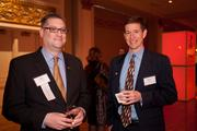 John Riccardi of U.S. Bank and Bruce Miller of the Xavier Leadership Center.