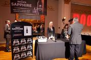Many guests tried out a sample at the Beck's Sapphire booth.