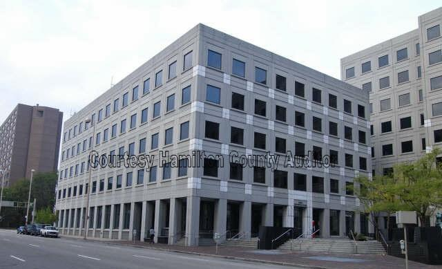 Centennial Plaza III is one of two downtown office buildings going on the auction block in October.