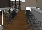 Here's how the restaurant would look from the interior.