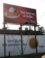 2011Frisch's puts up its ad, again next to the Madison Road Busken Bakery, and again, Busken is quick to respond.