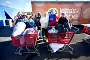 """The Tide """"Loads of Hope"""" truck is equipped with 32 energy-efficient washers and dryers to help storm victims clean their clothes."""