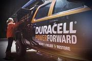 One of the Duracell trucks that includes charging stations and wireless network access for cell phones and computers.