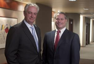 Jack Cassidy, left, handed over the CEO reins to Ted Torbeck this week. Cassidy served as CEO for the last nine years.