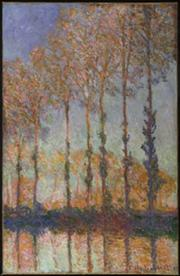 Claude Monet, Poplars, 1891, oil on canvas, 36 5/8 x 29 3/16 in. (93 x 74.1 cm), Philadelphia Museum of Art, The Chester Dale Collection, 1951