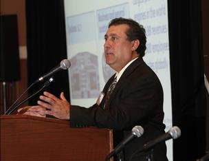 Keynote speaker Tony Maricocchi is head of supplier development at Evendale-based GE Aviation.
